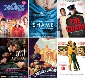 Affiches films britanniques sortie décembre 2011