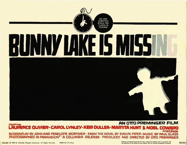 Bunny Lake is missing / Bunny Lake a disparu (1965)