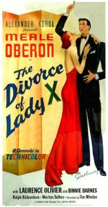 Le Divorce de Lady X (affiche)